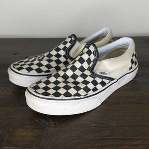 Vans Checkered Slip-on Sneakers size 2.5